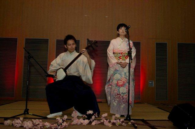 Japanese folk song duo